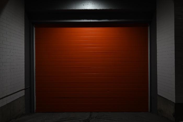red Commercial Garage Doors