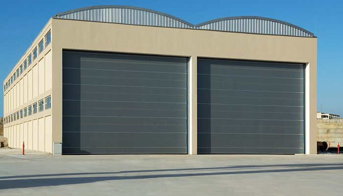 grey Commercial Roller Shutters